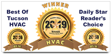 Three Time Winner for Best of Tucson HVAC