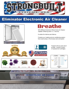 Strongbuilt Eliminator Electronic Air Filtration